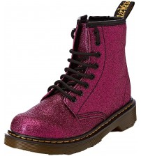 Dr Martens 1460 Delaney Purple Glitter Kids Zip Boots