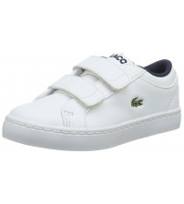 Lacoste Straightest White Todlers Leather V Trainers Shoes