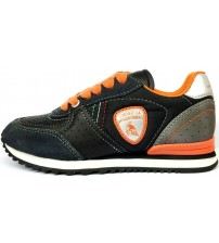Lamborghini Run Two Black Orange Kids Trainers Shoes