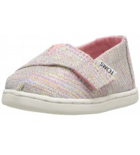 Toms Classic Pink Multi Glimmer Tiny Canvas Shoes