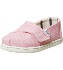 Toms Classic Powder Pink Tiny Canvas Shoes