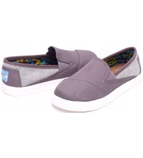 Toms Classic Avalon Grey Jersey Mesh Kids Espadrilles Shoes