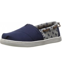 Toms Classic Navy Sailboat Kids Youth Canvas Espadrilles Shoes