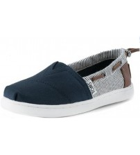 Toms Classic Navy Stripes Kids Espadrilles Shoes