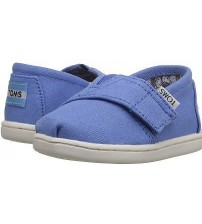 Toms Classic Blue White Tiny Velcro Espadrilles Shoes
