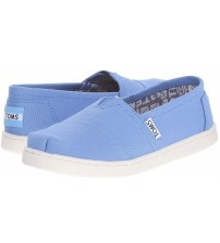 Toms Classic Blue Youth Canvas Espadrilles Shoes Slipons