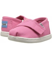 Toms Classic Bubblegum Pink Tiny Canvas Espadrilles Shoes