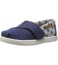Toms Classic Navy Sailboat Tiny Canvas Espadrilles Shoes