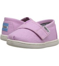 Toms Classic Pink White Tiny Velcro Espadrilles Shoes