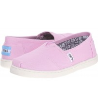 Toms Classic Pink Youth Canvas Espadrilles Shoes Slipons
