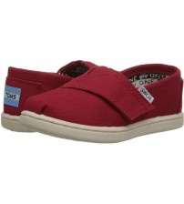 Toms Classic Red Tiny Canvas V Espadrilles Shoes