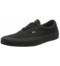 Vans U Era Black Canvas Unisex Skate Trainers Shoes