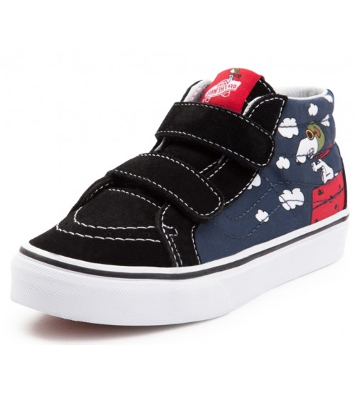 eb304bc15e40 Vans x Peanuts SK8 Mid Reissue V Flying Ace Big Kids Trainers
