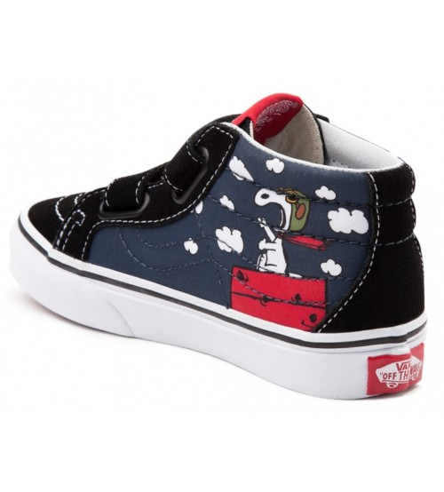 Vans x Peanuts SK8 Mid Reissue V Flying Ace Big Kids Trainers e990c58bc