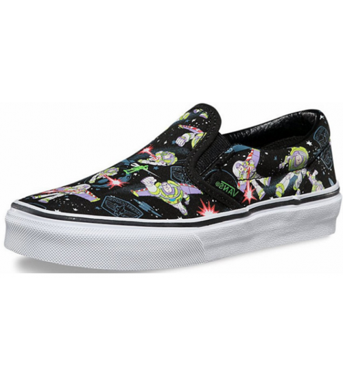 Vans Calssic Toy Story Buzz Lightyear Kids Slip-On Shoes