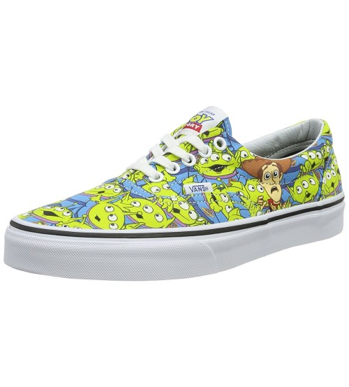 Vans U Era Toy Story Green Aliens Kids Trainers Shoes