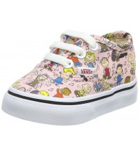 Vans X Peanuts Authentic Dance Party Pink Toddlers Trainers