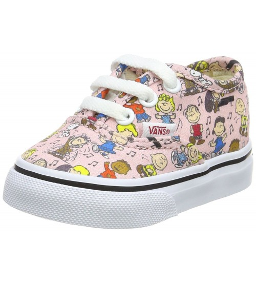 7f9478ff15 Vans X Peanuts Authentic Dance Party Pink Toddlers Trainers
