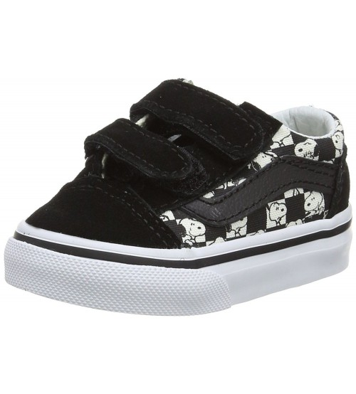 Vans X Peanuts Old Skool V Snoopy Black White Unisex Toddlers Trainers 971f74dd6