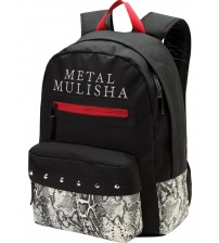 Metal Mulisha Lush Black Red White Unisex Shoulder School Bag Backpack