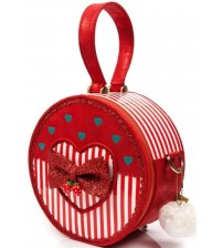 Irregular Choice Freya Red White Womens Clutch Bag