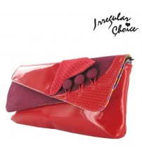 Irregular Choice Flick Flack Red Womens New Hand Clutch Bag