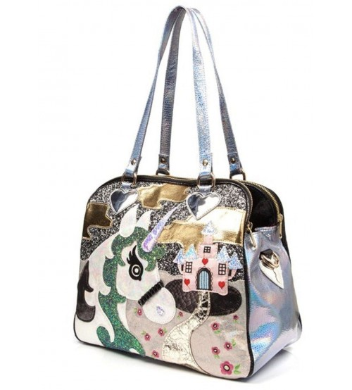 Irregular Choice King of the Castle Black Multi Womens Bag