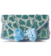Irregular Choice Pastel Pride Blue Womens Clutch Bag