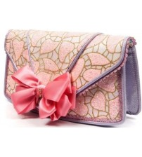 Irregular Choice Pastel Pride Pink Womens Clutch Bag