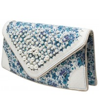 Irregular Choice Pearly Girly White Multi Womens Clutch Bag