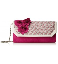 Ruby Shoo Kyoto Ivory Floral Womens Hand Clutch Bag