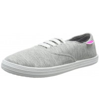 Beach Athletics Deaville Grey White Womens Plimsolls Shoes