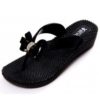 Beach Athletics Nimes Black Womens Beach Flip Flops