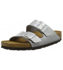 Birkenstock Arizona Magic Galaxy Silver Womens Leather Sandals