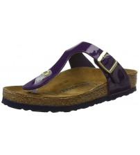 Birkenstock Gizeh Lilac Patent Womens Leather Sandals Shoes