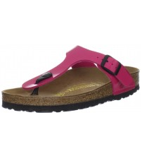 Birkenstock Gizeh Pink Birko-Flor Patent Womens Leather Sandals