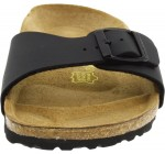 Birkenstock Madrid Black Womens Leather Sandals Shoes