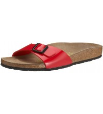 Birkenstock Madrid Red Patent Womens Leather Sandals Shoes