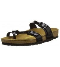 Birkenstock Mayari Black Patent Womens Leather Sandals Shoes