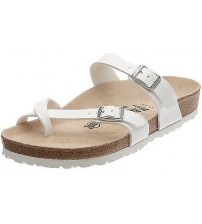 Birkenstock Mayari White Womens Leather Sandals Shoes