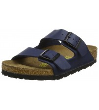 Birkenstock Arizona Blue Womens Leather Sandals Shoes