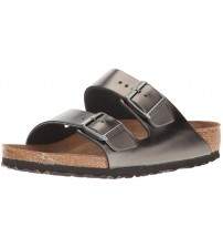 Birkenstock Arizona Metallic Anthracite Womens Leather Sandals