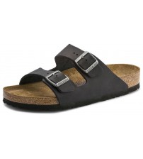 Birkenstock Arizona Oiled Black Womens Leather Regular Fit Sandals Shoes