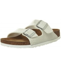 Birkenstock Arizona Magic Snake White Womens Synthetic Leather Sandals Shoes