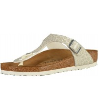 Birkenstock Gizeh Magic Snake White Womens Leather Sandals