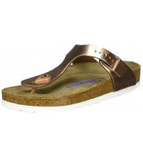 Birkenstock Gizeh Metallic Copper Womens Leather Sandals