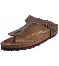 Birkenstock Gizeh Mocca Womens Leather Sandals