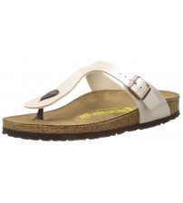 Birkenstock Gizeh Pearl White Womens Leather Sandals