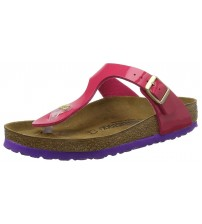 Birkenstock Gizeh Birko-flor Pink Womens Leather Sandals Shoes