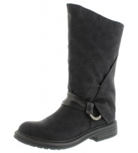 Blowfish Fenni Black Womens Mid Calf Boots Shoes